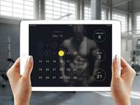 30day Pushup Challenge App - dark theme