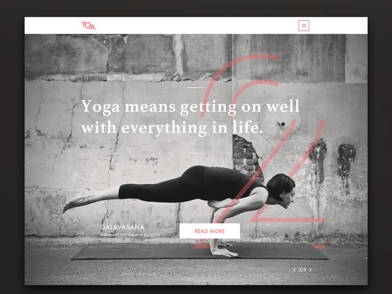 Yoga Mag website design - homepage uxdesign webdesign website magazine yoga homepage