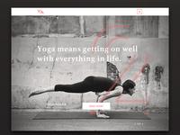 Yoga Mag website design - homepage
