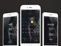 30day Pushup Challenge App - dark theme final