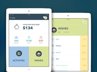 PocketPiggy - App for managing kid's finance, Ipad version