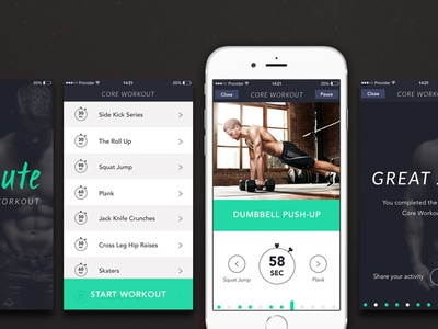 7 Minute Workout Apps design