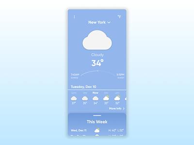 Daily UI #037 - Weather ui design ui design uidesign figma daily ui challenge dailyuichallenge daily ui dailyui 100 days of ui 100daysofui