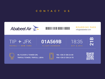 Contact Page website contact page air ticket ui