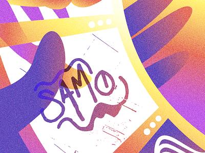 WATCH ME DO THE SAMO THANG jean michel basquiat vince staples meta tag butts vector illustration samo