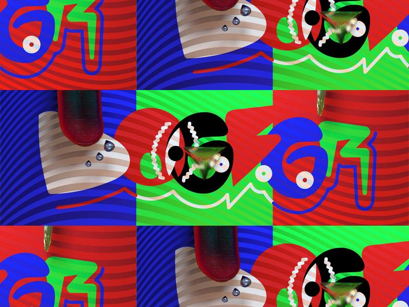DOGBGR drop eye tongue octane c4d 3d illustration