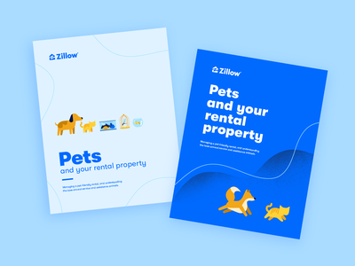 Pets eBook Covers vector that blue illustration cover ebook zillow turtle fish bird dog cat pets