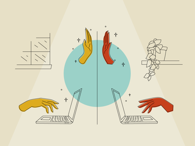 6 Tips for the Remote Agile Team high five illustration wfh remote agile