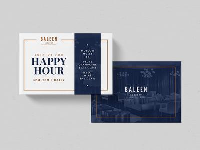 Happy Hour Postcard modern alcohol drinks handout happy hour postcard