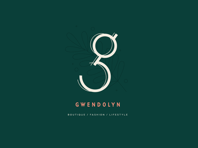 Gwendolyn graphic design boutique fashion g daily logo challenge typography vector branding flat illustration logo