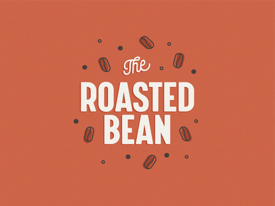 The Roasted Bean retro rust beans coffee flat illustration design vector daily logo challenge flat branding illustration logo