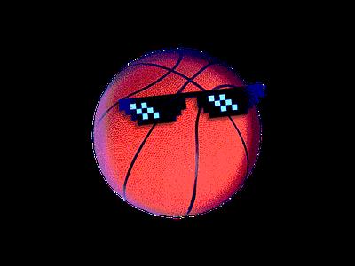 Cool Basketball flat minimal design basketball