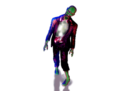Classic Zombie zombie design flat illustration minimal