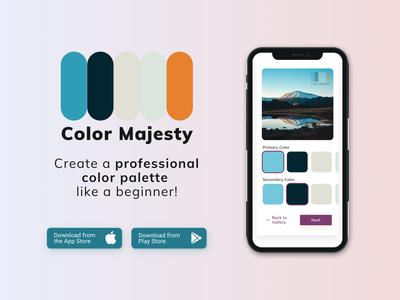 Daily UI #074 - Download App logo gradient color palette download app 074 dailyui