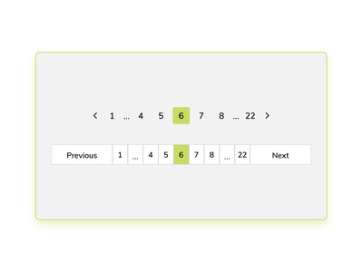 Daily UI #085 - Pagination dailyuichallenge simple products pages green pagination 085 dailyui