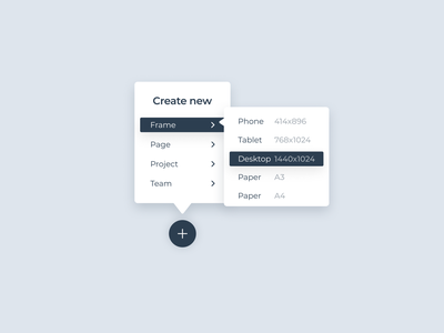 Daily UI #090 - Create New saas cloud design software menu create new 090 dailyuichallenge dailyui
