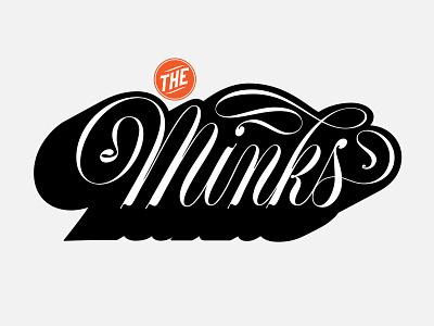 The Minks poster design design vector logo illustration lettering typography