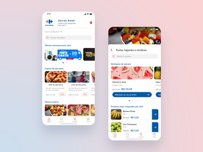 Redesign Carrefour App user experience user interface interface design mobile ui ux app redesign