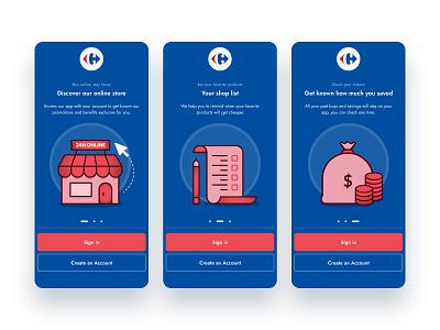 Market app onboarding illustration dribbble design redesign interface app user experience ux user interface ui