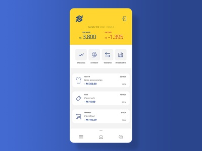 Home - Banking App iphone finance layout interface bank app ui ux user interface user experience redesign