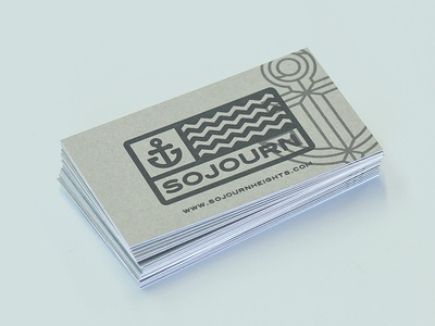 Sojourn Business Card business card sojourn letterpress anchor duplex french paper
