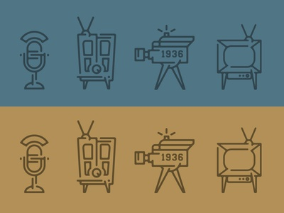 Broadcasting Icons