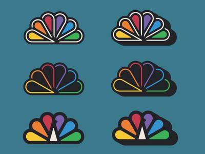 NBC -Peacock Explorations nbc logo pecock mark