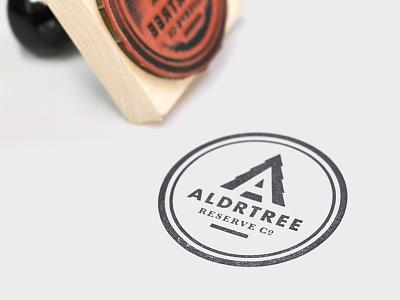 ALDRTREE Stamp aldrtree stamp rubber logo badge tree