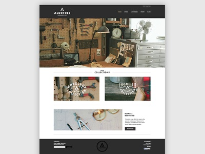 ALDRTREE Launch web design aldrtree homepage ui ecommerce web