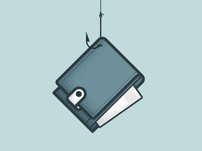 Hook n' wallet illustration wallet hook texture card credit