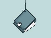 Hook n' wallet illustration