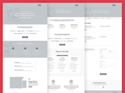 Site Redesign Wireframes concept redesign ux wire frames wireframes ui
