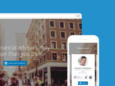 LinkedIn Tool - Find an Advisor mobile interface ux ui linkedin