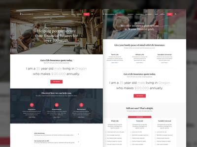 Transamerica Redesign finance insurance landing page responsive redesign ui