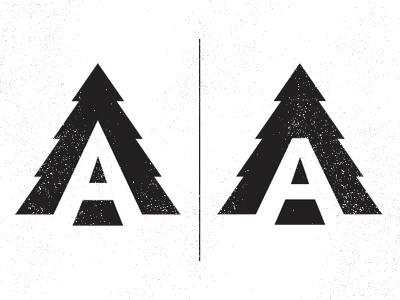 Logo Concept logo a typography type distressed vintage tree icon suarez ben suarez aldrtree aldertree