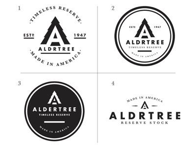 ALDRTREE: Logo Directions aldrtree suarez badge icon circle type retro vintage ben suarez benjamin suarez timeless reserve black and white