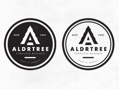 ALDRTREE: Logo Directions Pt. 2 badge icon aldrtree 1947 tree vintage retro suarez ben suarez 1940s logo logo mark mark made in america