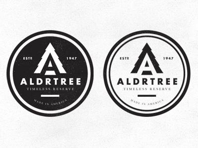 ALDRTREE: Logo Directions Pt. 2 badge icon aldrtree 1947 tree vintage retro suarez ben suarez 1940s logo logo mark mark made in america