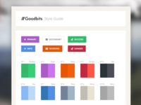 Goodbits -- Initial Styleguide