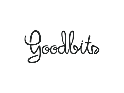 Goodbits hand lettering custom script black and white lettering type typography goodbits