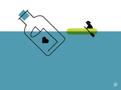 Message minimal vector illustration
