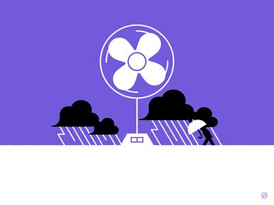 Blow minimal vector illustration
