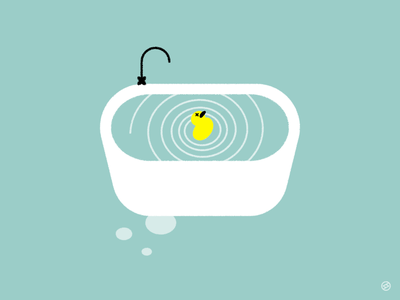 Eddy faucet whirl spiral water duck bath tub accent shape geometric simple minimal vector illustration