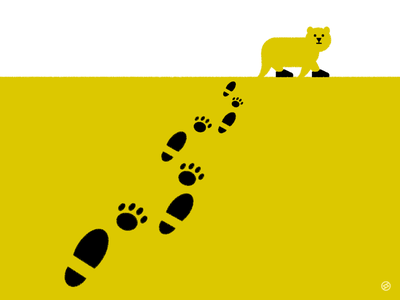 Footprints minimal vector illustration