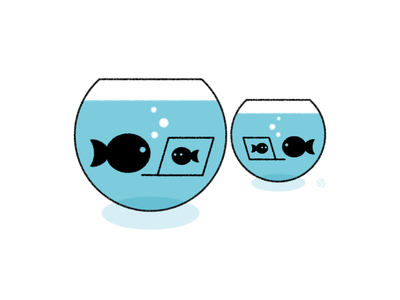 2020 in a nutshell... remote fishbowl 2020 conceptual black accent shape geometric vector simple minimal illustration