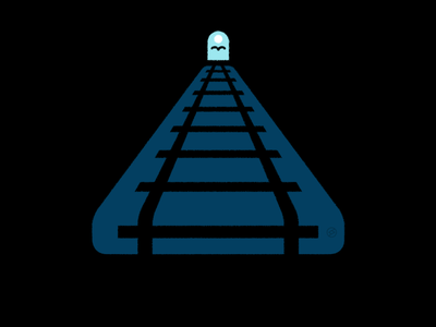 2020 in a nutshell... endless treadmill light track tunnel conceptual black accent shape geometric vector simple minimal illustration