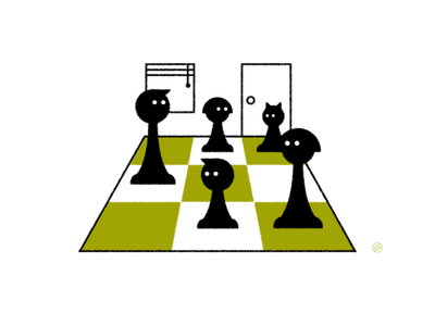 2020 in a nutshell... chess conceptual black accent shape geometric vector simple minimal illustration