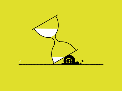 2020 in a nutshell... slow hourglass snail conceptual black accent shape geometric vector simple minimal illustration