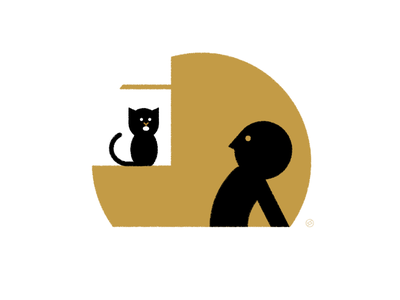 """When My Cat Says """"I'm Speaking"""" cat accent shape geometric vector simple minimal illustration"""