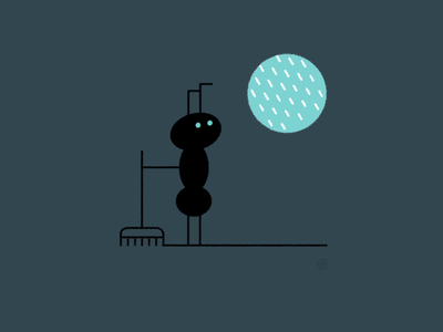 Staying Home nest hole window home rain ant conceptual black accent shape geometric vector simple minimal illustration